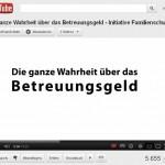 """Familienschutz präsentiert Aufklärungsvideo """"Die ganze Wahrheit zum Betreuungsgeld"""""""
